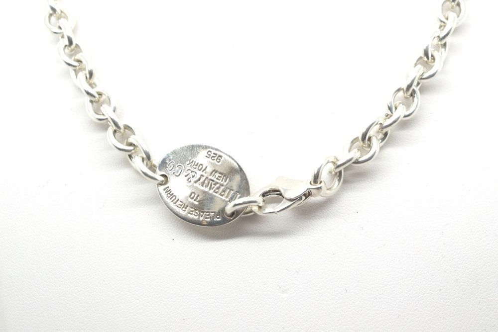 151942fc0 Authentic RETURN TO TIFFANY™ & Co. Sterling Silver Oval Tag Choker Necklace  #TiffanyCo #Choker