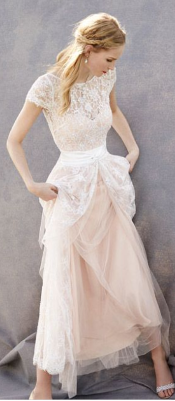 Lovely Wedding Dresses,Blush Pink W