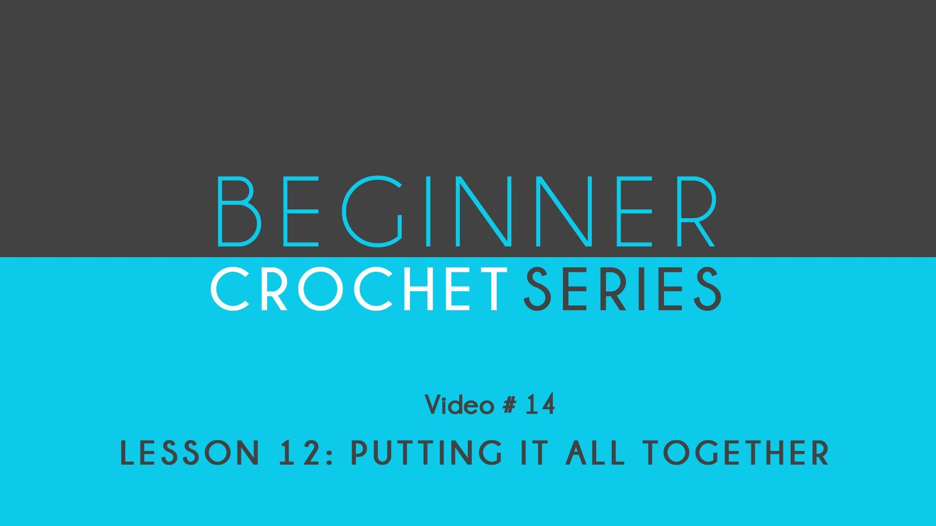 How to Crochet: Beginner Crochet Series Lesson 12 Putting It All Together
