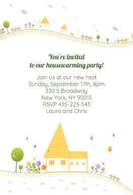 Housewarming Party Invitación Para Inauguración De Casa