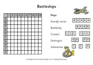 Battleships Is A Fun Game For Developing Logic And Deductive