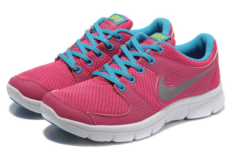 Discount Authentic Womens Nike Flex Experience Training Shoes Pink/White/Light Blue