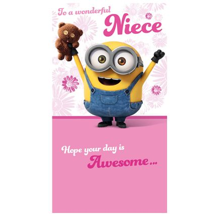 Official minion niece birthday card available direct from official minion niece birthday card available direct from publishers danilo with free uk delivery bookmarktalkfo Image collections