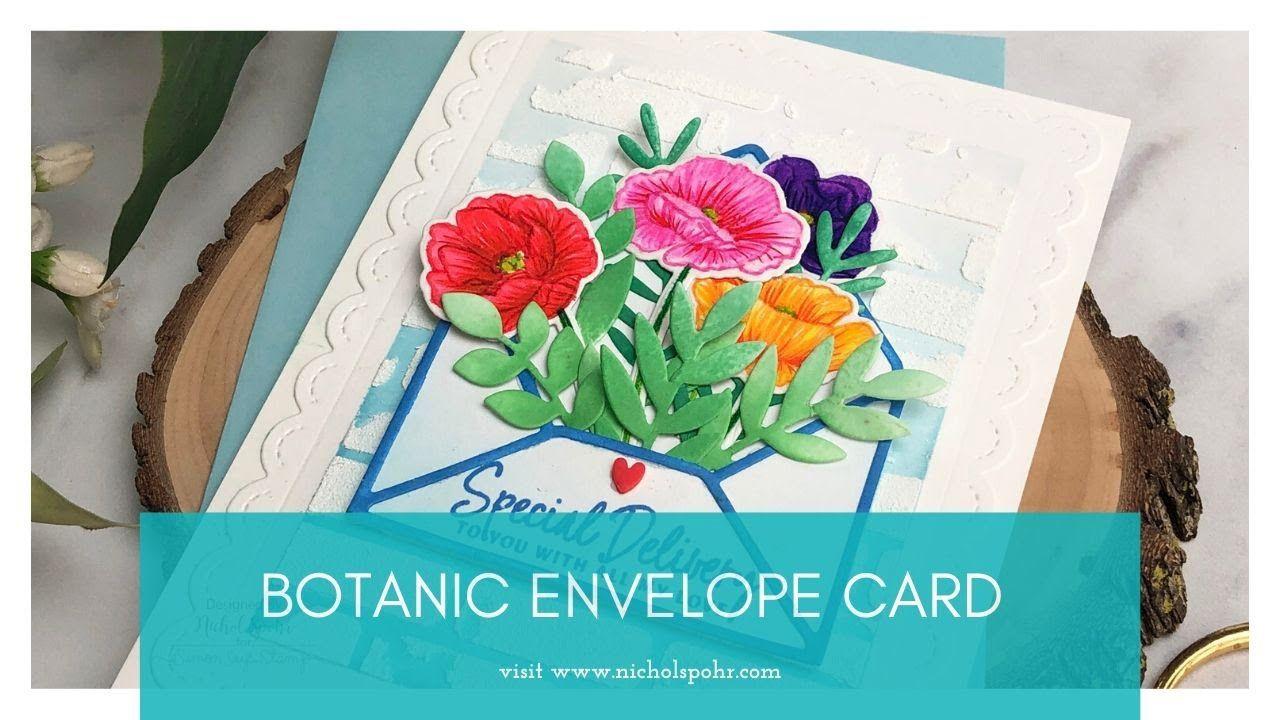 botanic envelope card mama elephant  youtube in 2020