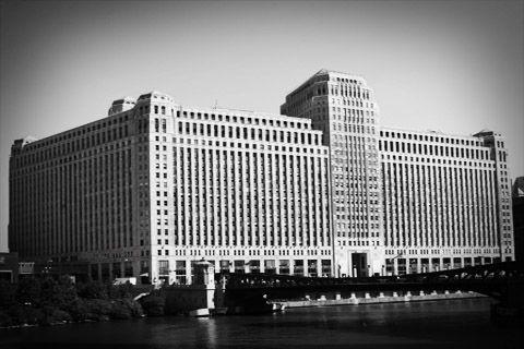 black and white merchandise mart chicago