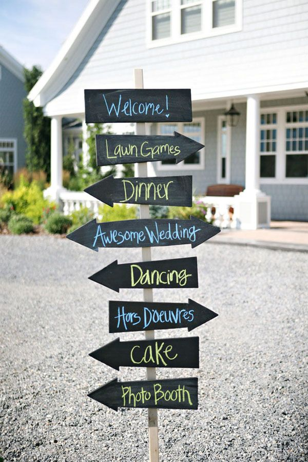 Wedding Directional Signs Chalkboard Blackboard Arrow