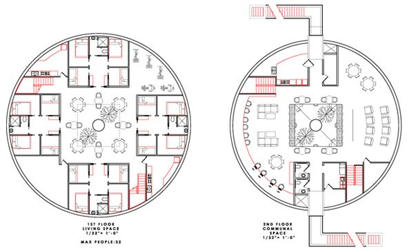 Circular House Floor Plans | Subterranean Earthbag Survival Shelter ...