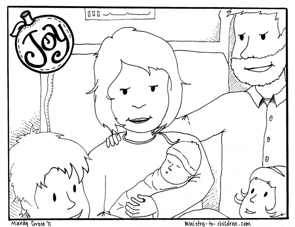 Joy Coloring Page Free Printable For Kids Fruit Of The