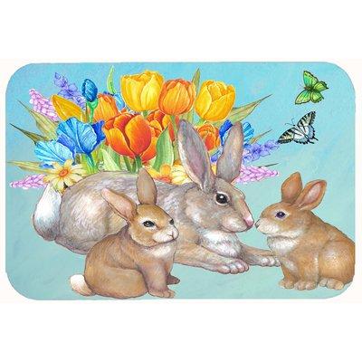 Caroline S Treasures Bunny Family Easter Rabbit Bath Rug Wayfair Family Easter Easter Rabbit Outdoor Door Mat