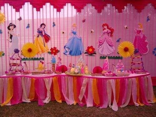 decoracion fiestas infantiles princesas decoracion casera