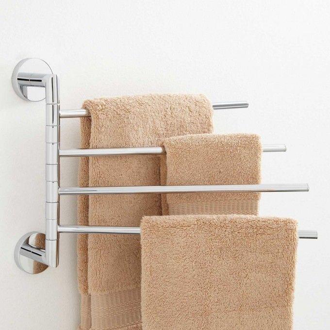 Colvin Quadruple Swing Arm Towel Bar Towel Holders Bathroom Accessories Bathroom 39 95 Towel Rack Bathroom Towel Bar