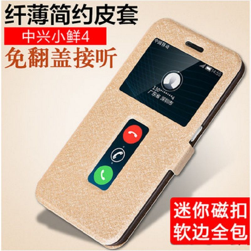 ZTE Xiaoxian 4 BV0701 case mobile phone window flip phone holster for 5.2inch 1920x1080P 3G RAM by free shipping