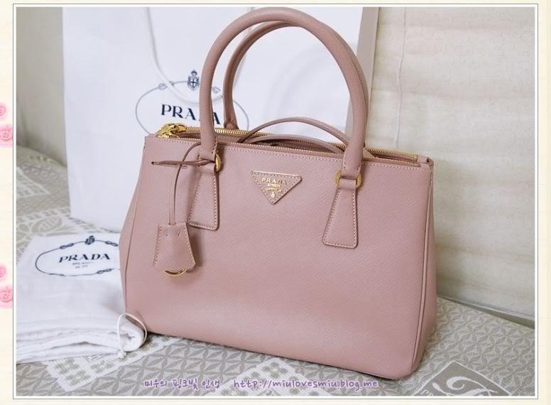 282c90fa3 Prada Saffiano Lux Tote, BN1801 in cammeo/pink (GHW!) Credit:  miulovesmiu.blog.me