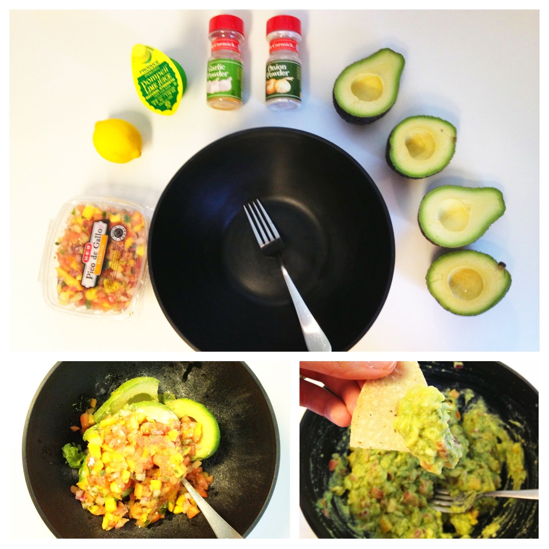 A guaranteed hit for guacamole! I never used to like it and then HEB's mango pico changed everything. Turns out it was a texture issue.  Email me for the exact recipe!  Lgfitandfree@gmail.com