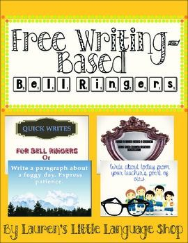 Free Writing Based Bell Ringer Prompts With Images Freewriting