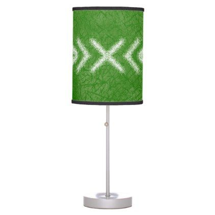 Minimalist tribal pattern in lime green table lamp aloadofball Image collections