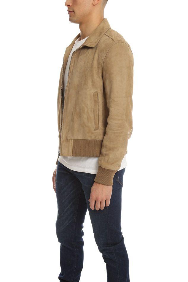, Men's IRO Irmo Jacket in Beige, Size Small, Hot Models Blog 2020, Hot Models Blog 2020