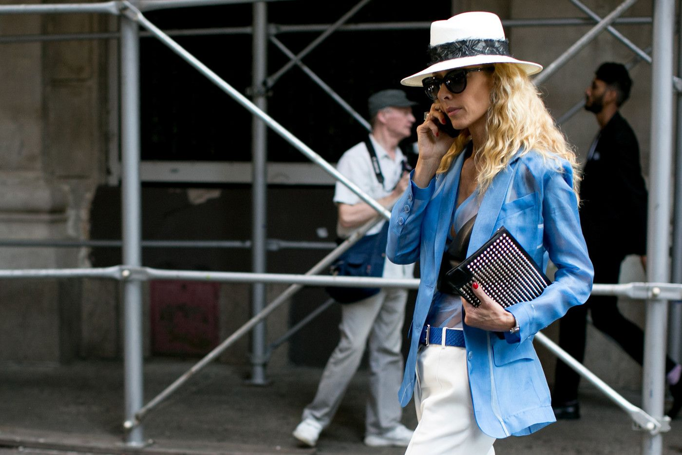 #StreetStyle Spotlight: Chic Hats. Bad hair day, be gone!  | structured fedora + crisp blazer