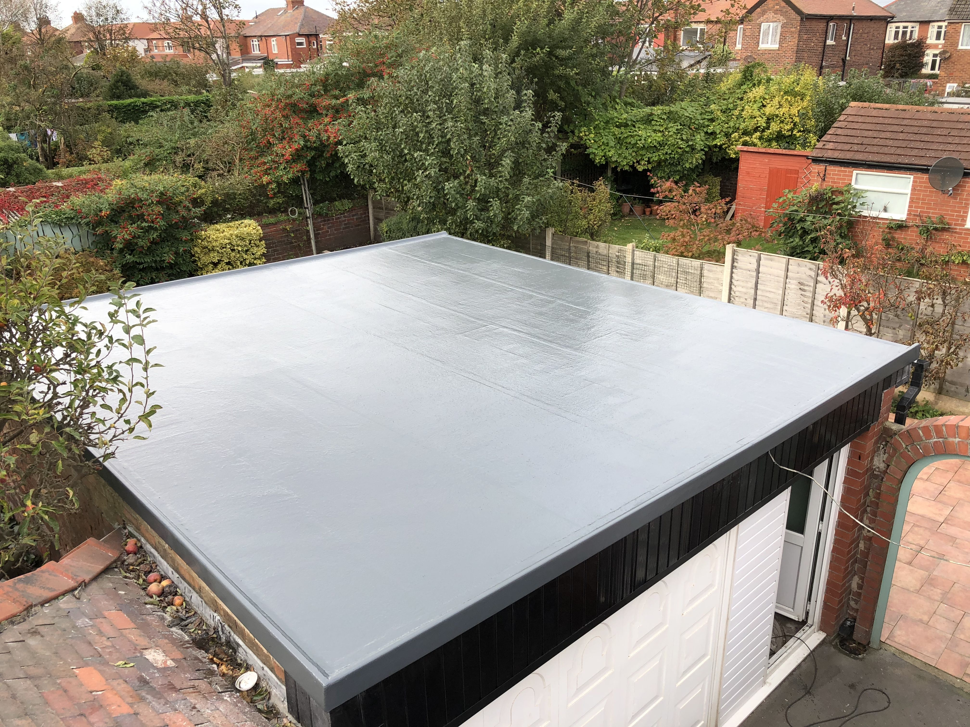 Freestanding Garage Roof In Fibreglass Grp Fibreglass Roof Roof Patio