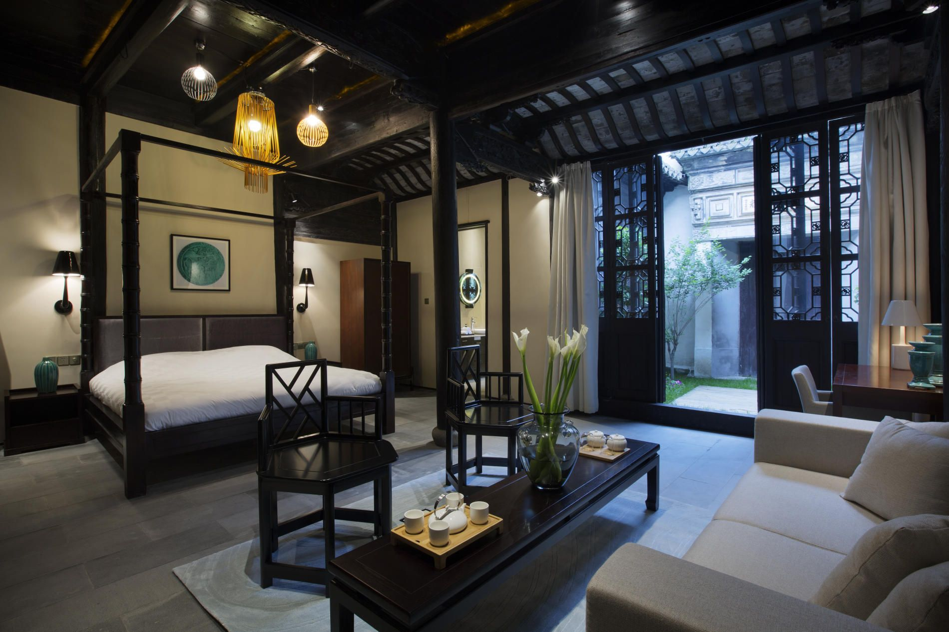 blossom hill hotel in zhouzhuang by dariel studio bed oh my - Traditional Hotel Decoration
