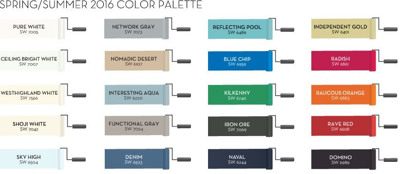 sherwin williams spring summer 2016 color palette abode painting
