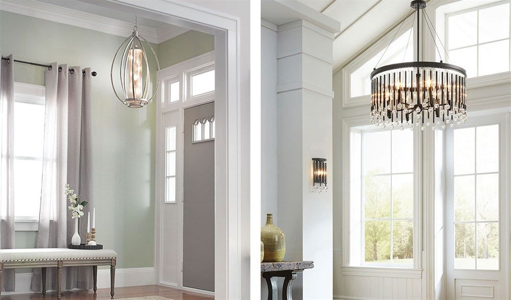 Go Grand The Foyer Is A Great Place To Make A Style Statement