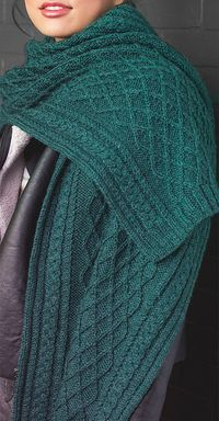 Photo of Cable Shawl Knitting Patterns