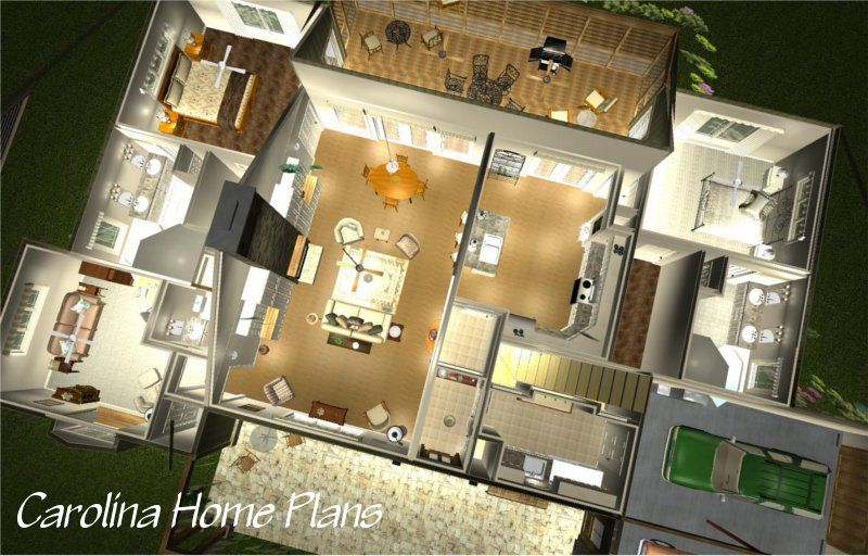 See Interior Views Of This Open Floor Plan With 2 Car Garage And Bonus Room 3d House Plans House Plans How To Plan