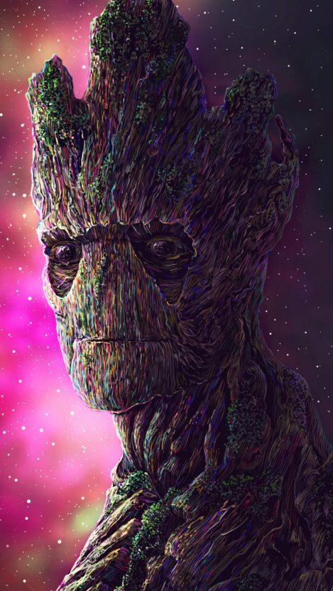 Groot Digital Art iPhone Wallpaper from iphoneswallpapers.com