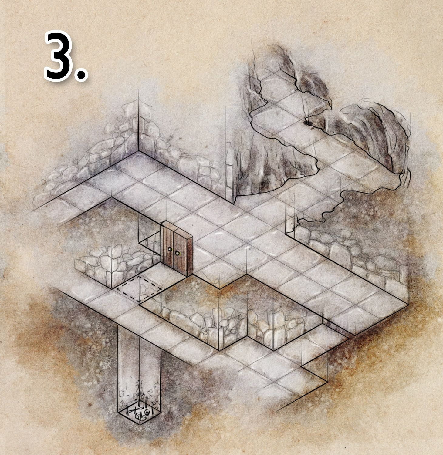 Tutorial: How to draw a basic dungeon map – Niklas Wistedt ...