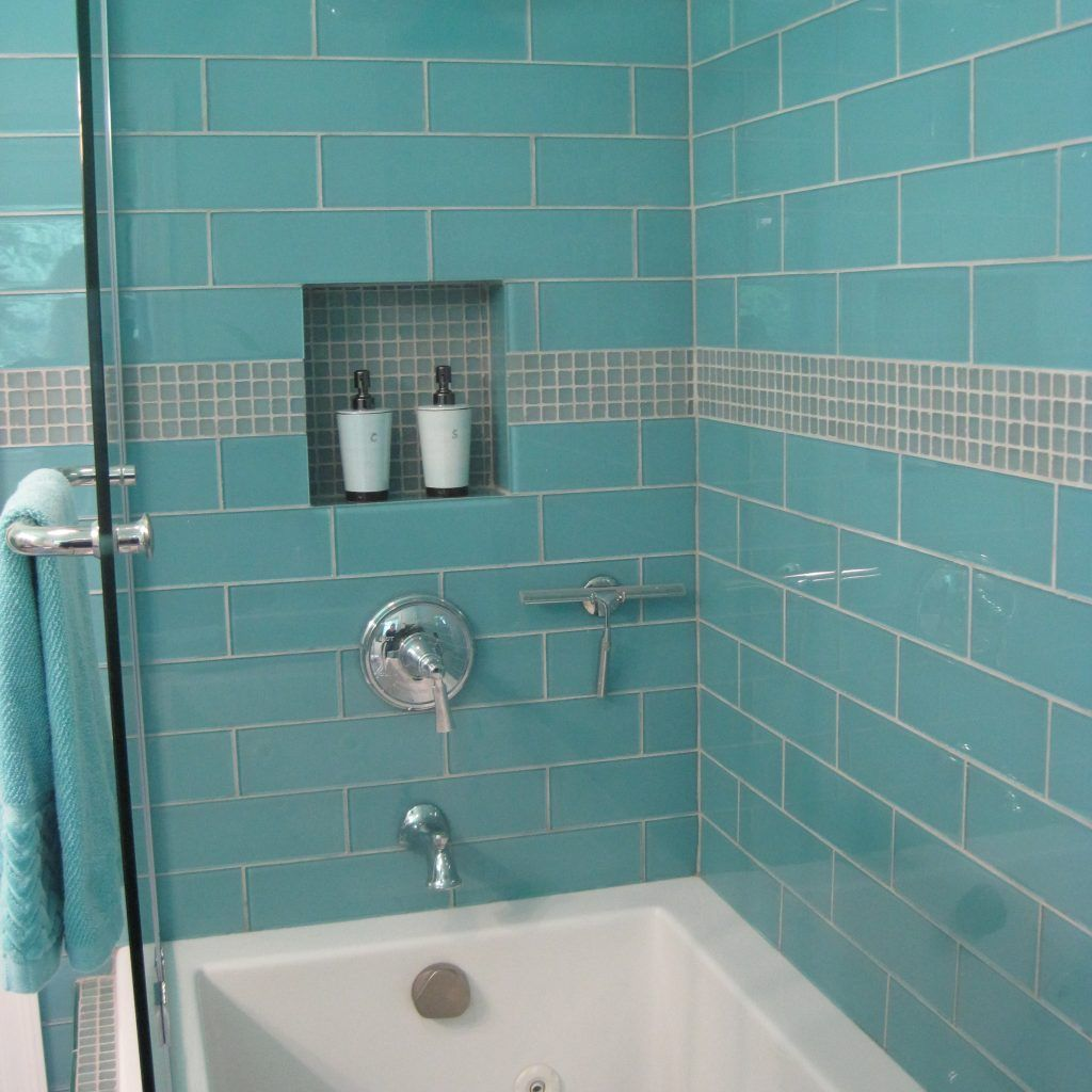 Large Glass Tiles For Bathroom | Bathroom Exclusiv | Pinterest ...