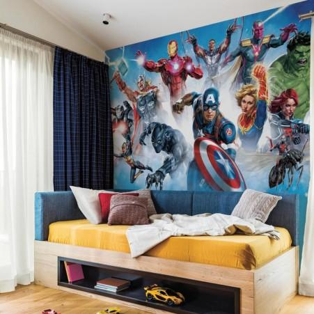 Avengers Gallery Art Peel And Stick Mural Avengers Room Decor Avengers Room Marvel Room