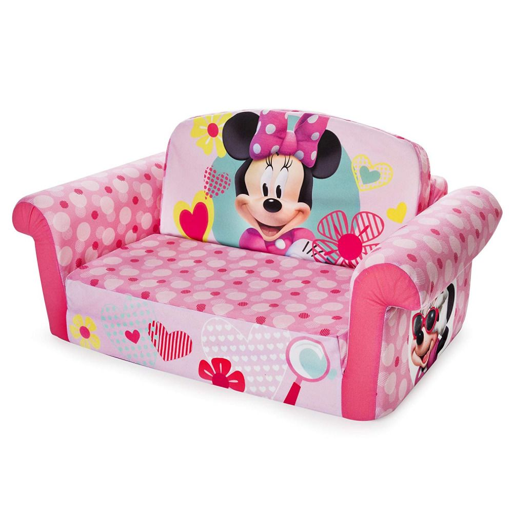 Disney Minnie Mouse Sofa Chair Flip Open Bed Furniture Toddlers