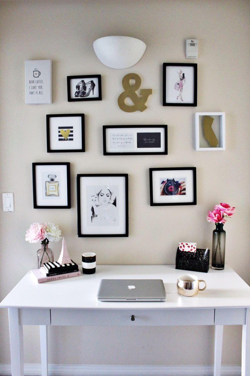 diy office wall decor. DIY Office Wall Decor - Scattered Photos Diy A