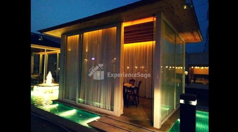 Water All Around Private Cabana Date At The Umrao Gurgaon Candle Light Dinner Cabana Cabana Restaurant
