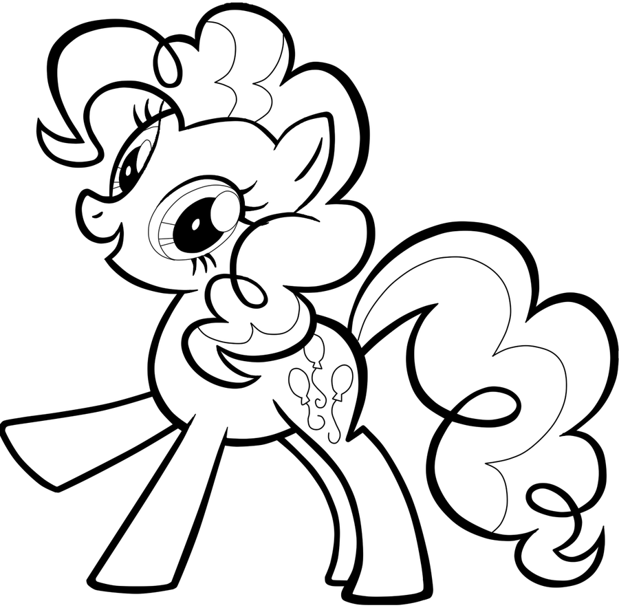 Pinkie Pie Coloring Pages Coloring Girls Pinterest My Little