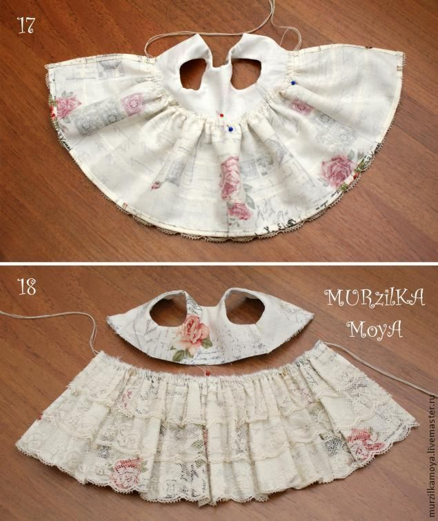 how the lined skirt and bodice attach #dollscouture