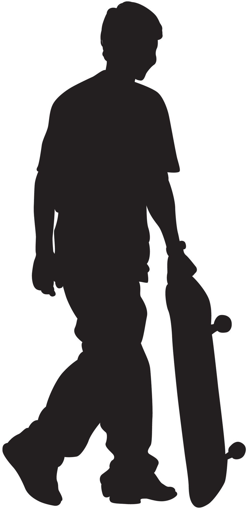 Vinyl 200 Cm Breed Skateboard Silhouette Xi Cutout Wall Decal Crafts Svg Files