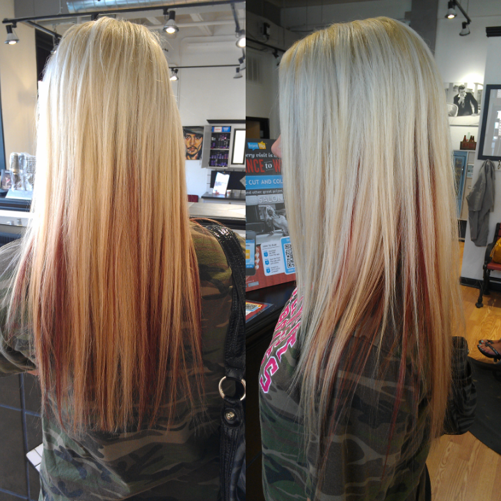 platinum blonde peek a boo highlights - Google Search | hair ...