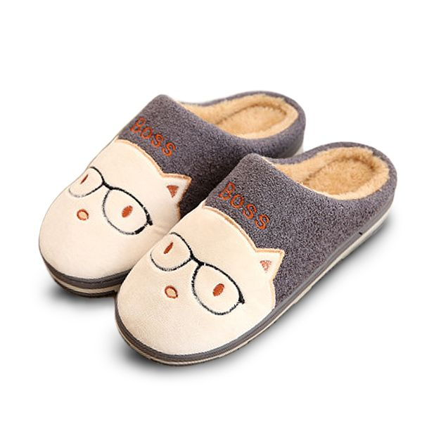 Women Home Shoes Carton Cotton Slippers Indoor Warm Shoes