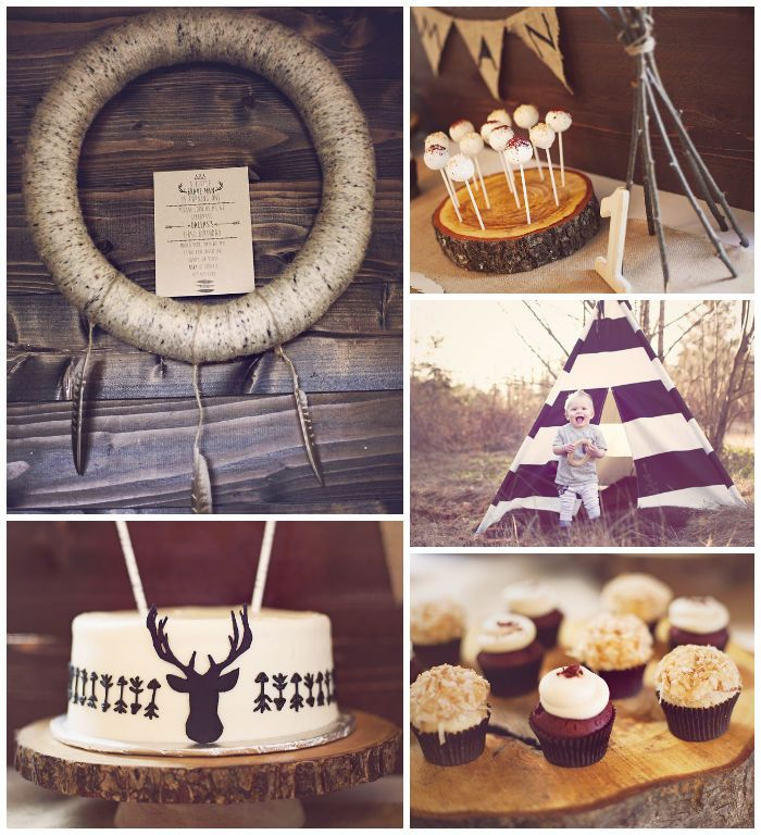 Little Brave Man themed 1st Birthday Party with Such Cute Ideas via Kara's Party Ideas Kara's Party Ideas | Cake, decor, cupcakes, games and...