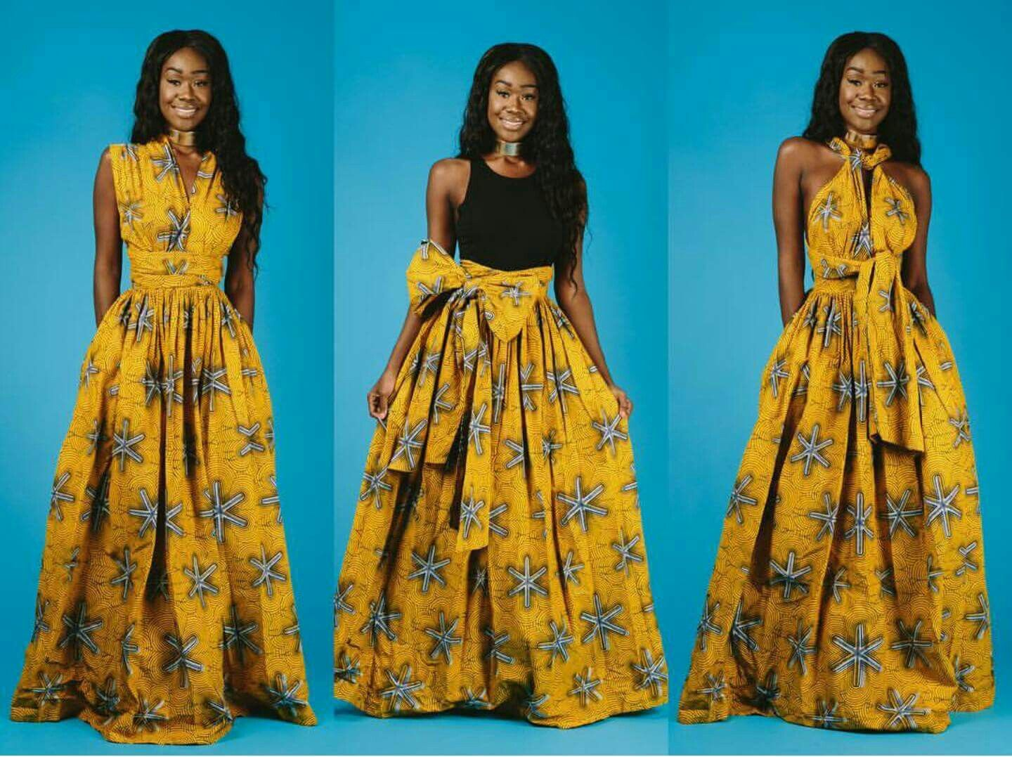 Maxi INFINITY in yellow * end of year clearance*. African print ...
