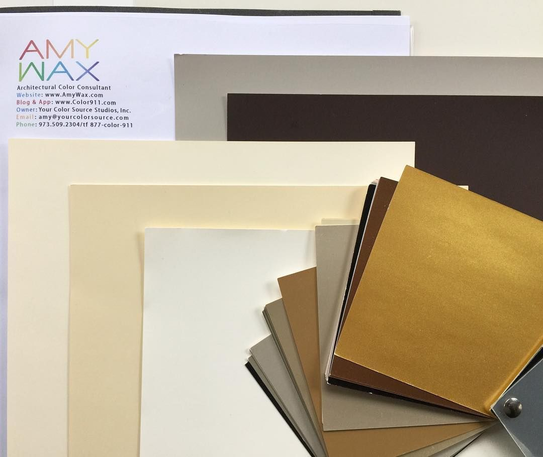 I'm excited to be working on a commercial project that will be creamy walls with bronze details and metallic accent #colors in unexpected places. The new #color palette will change the whole mood to a more elegant design.