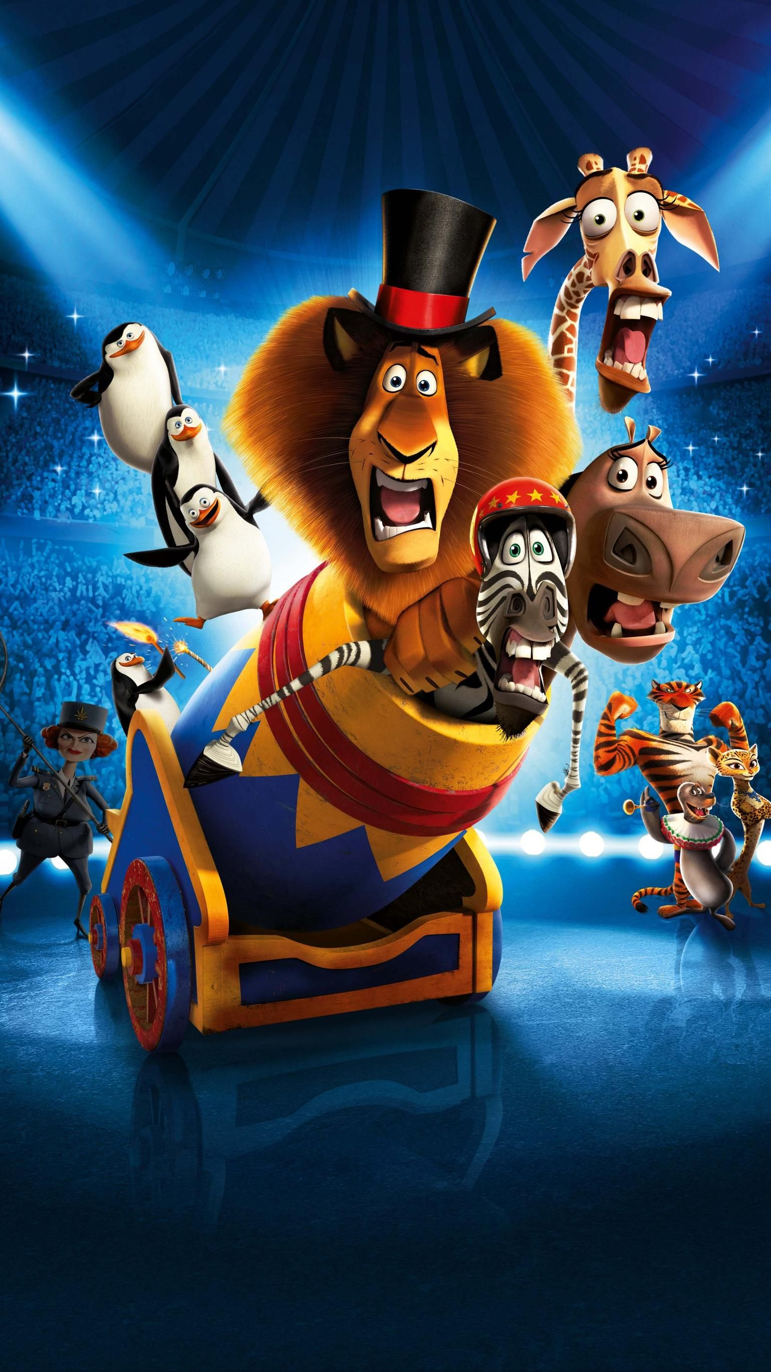Madagascar 3 Europe's Most Wanted (2012) Phone Wallpaper