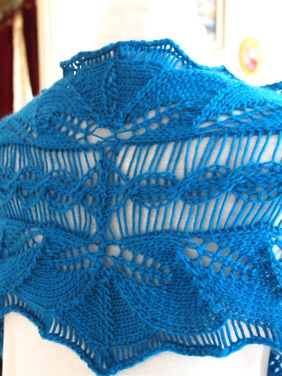 Instant Download pdf Hand Knitting Pattern - Lacy Vine Scarf ...