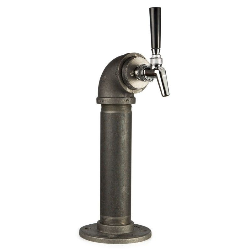 Draft Beer Tower - Black Iron - Single Tap - Perlick 630SS Faucet ...