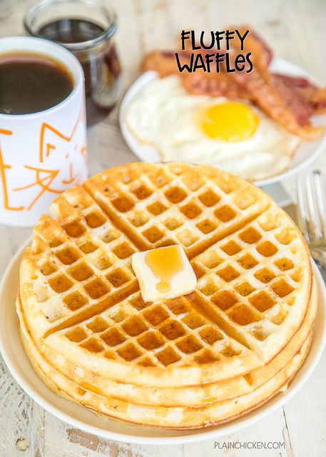 Fluffy Waffles Seriously The Most Delicious Waffles Ever Better Than The Waffle House I Promise Waffle Maker Recipes Homemade Waffles Easy Waffle Recipe