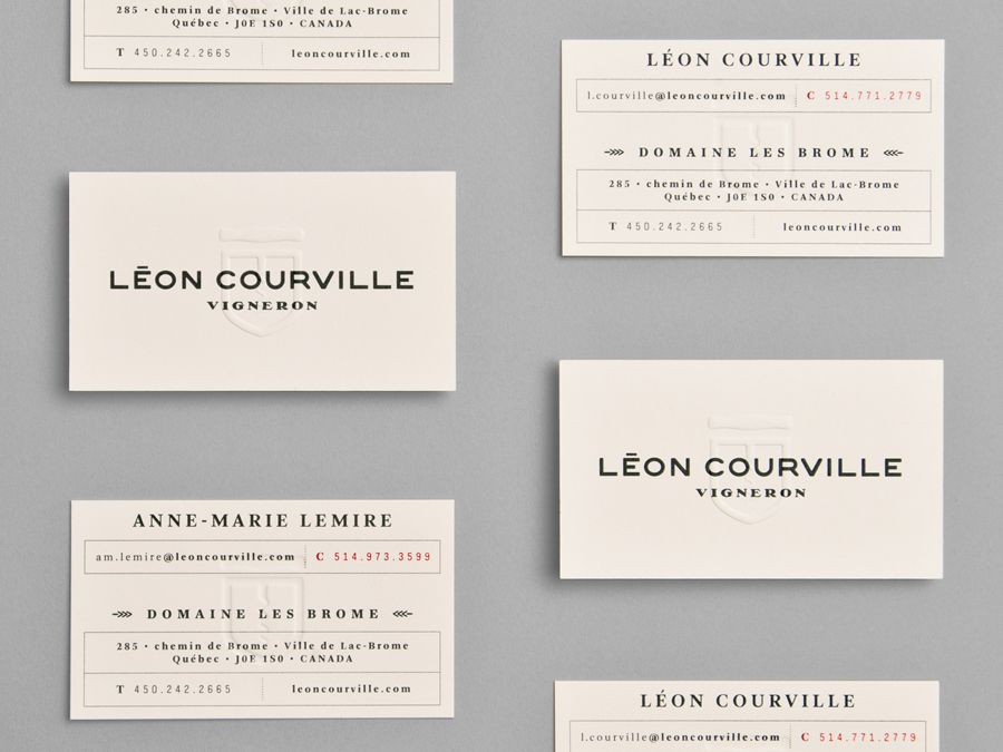 New brand identity for lon courville by lg2 boutique bpo blind embossed business card for wine producer lon courville vigneron by lg2 boutique reheart Gallery