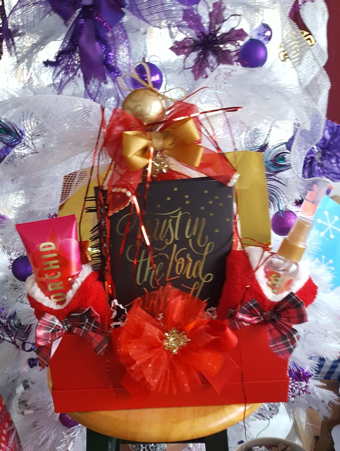 Christmas Gift Basket.l made this for our Nun at c… | All Retail ...