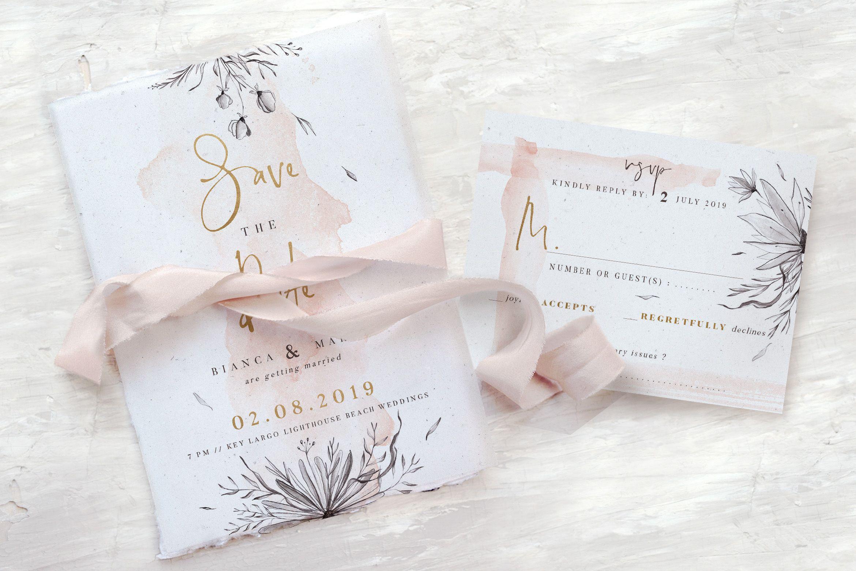 Peach Grey Floral Wedding Suite Graphic By Blue Robin Design Shop Creative Fabrica Desain Undangan Kartu Bunga Kartu
